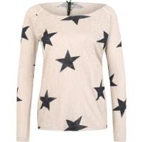 Key LargoViskose Pullover mit Sternen beige / schwarz