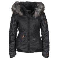 KhujoBryanna Fake Leather W Chaqueta de invierno negro