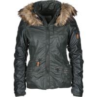 KhujoBryanna Fake Leather W Chaqueta de invierno verde
