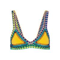 KiiniRo Triangel-bikini-oberteil Mit Häkelbesatz - Gelb