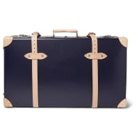 Kingsman+ Globe-trotter 30 Pinstripe-lined Wheeled Suitcase - Navy