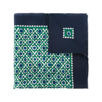 Kitongeometric print pocket square, Mens, Green