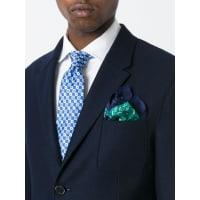 Kitontie-dye pocket square, Mens, Green