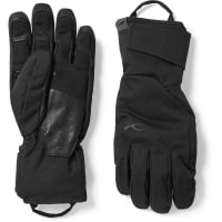 KjusFormula Leather-trimmed Shell Gloves - Black