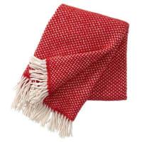 Klippan YllefabrikManta de lana Polka rojo