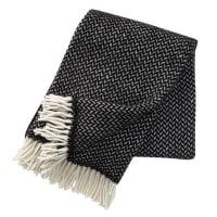 Klippan YllefabrikPolka wool throw black