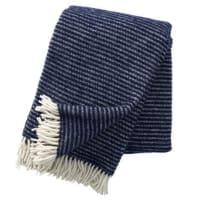 Klippan YllefabrikRalph wool throw navy