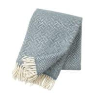 Klippan YllefabrikSamba ullpläd lead grey (grå)
