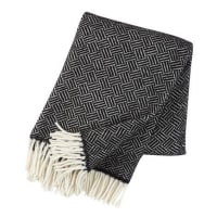 Klippan YllefabrikSamba wool throw black