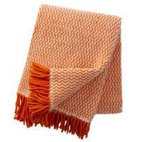 Klippan YllefabrikTango ullpledd orange