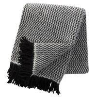 Klippan YllefabrikTango ullpledd svart-hvit