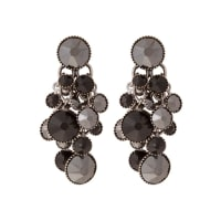 KonplottDANGLING WATERFALLS Ohrringe black antique silvercoloured
