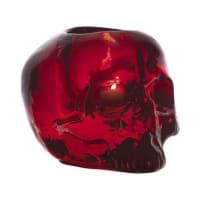 Kosta BodaSkull lyslykt rød