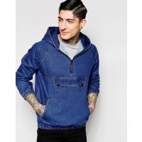 KubbanGiacca di jeans stile felpa - Blu