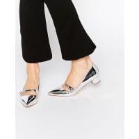 Kurt GeigerAudrina Silver Patent Mid Heeled Mary Jane Heeled Shoes - Silver