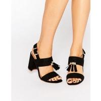 Kurt GeigerElaina Black Tassel Block Heeled Sandals - Black