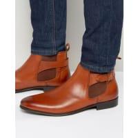 Kurt GeigerKg By Kurt Geiger Buckle Chelsea Boots In Tan Leather - Tan