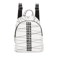 L.A.M.B.Jessa Studded Leather Backpack, White/Black
