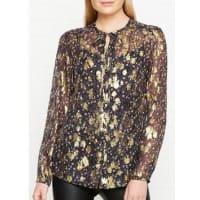 L.k. BennettElowen Gold Print Silk Blouse - Multi, Size 10