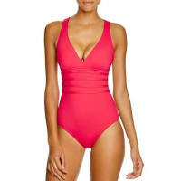 La BlancaMultistrap Cross Back Maillot One Piece Swimsuit