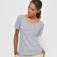 La RedouteT-shirt in gestreept biokatoen met korte mouwen