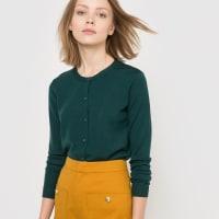 La RedouteChaqueta de punto Merinos con cuello redondo, 100% lana merina