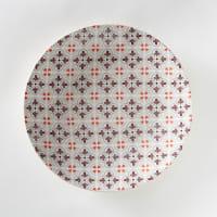La Redoute InterieursSet van 4 platte borden met tegelmotief