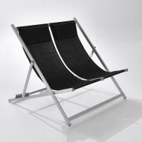 La Redoute InterieursDubbel ligstoel, structuur in aluminium