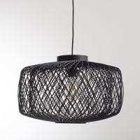 La Redoute InterieursHanglamp in zwart geweven rotan, niet elektrisch, Yaku