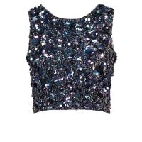 Lace & BeadsHAZEL Topper iridescent black