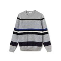 LacosteHerren-Rundhals-Pullover mit Colorblock-Streifen