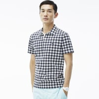 LacosteMENS GINGHAM PRINTED POLO SHIRT