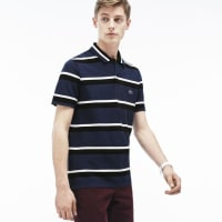 LacosteMENS MADE IN FRANCE STRIPE PIQUÉ POLO SHIRT