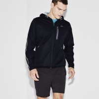 LacosteSPORT TENNIS HOODED JACKET WITH PRINTED MIDLAYER