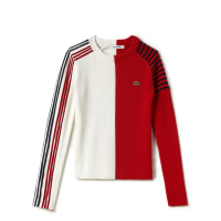 LacosteDamen-Pullover im Colorblock-Design mit Rundhalsausschnitt Runway collection