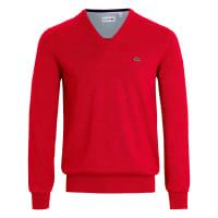 LacosteV-Pullover aus 100% Baumwolle Lacoste schwarz