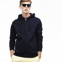 LacosteZIPPERED SWEATSHIRT IN TECHNICAL PIQUÉ WITH CONTRASTING DETAILS