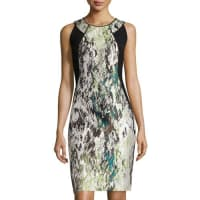 Lafayette 148 New YorkAlora Silk Jacquard Sheath Dress, Mint Multi