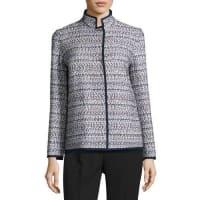 Lafayette 148 New YorkBranson Stand-Collar Tweed Jacket, Multi