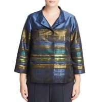 Lafayette 148 New YorkVanna Abstract Print Sateen Jacket