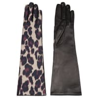 LanvinLeopard-print Twill And Leather Gloves - Leopard print