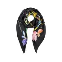 Laura BiagiottiFloral Print Twill Silk Square Scarf