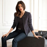 Laura ClémentVeste en tweed.LIVRAISON GRATUITE à partir de 49EUR