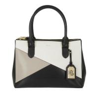 Lauren Ralph LaurenTasche - Double Zip Shopper Black/Vanilla/Porcini - in braun, beige, schwarz - Henkeltasche für Damen