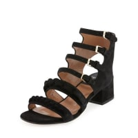 Laurence DacadeKemo Suede Chain Strappy Sandal, Black