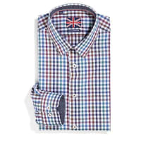 Le 31Coloured gingham shirt Semi-tailored fit