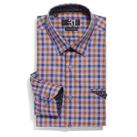 Le 31Fall checkered shirt Semi-tailored fit