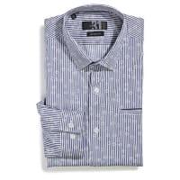Le 31Floral stripe shirt Semi-tailored fit