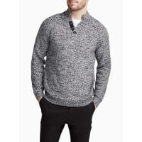 Le 31Heathered buttoned-collar sweater