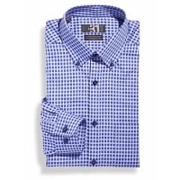 Le 31Indigo gingham shirt Regular fit